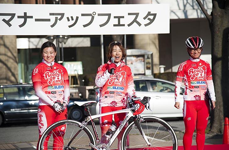 レースだけでなく、イベントなどにも積極的に参加するRGJ(2014年千葉市マナーアップフェスタ)