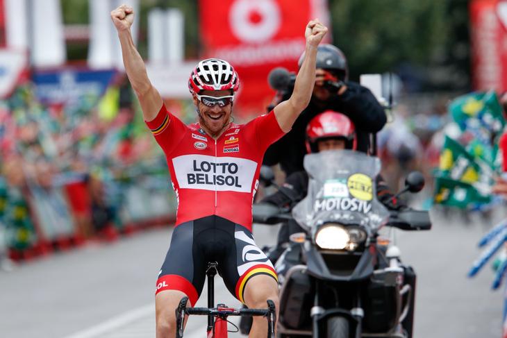 2014年ブエルタ第19ステージで勝利したアダム・ハンセン(オーストラリア、ロット・ベリソル)