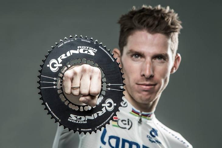 Q-Ringsを愛用する2013年ロードレース世界チャンピオンのルイ・コスタ(ポルトガル、ランプレ・メリダ)