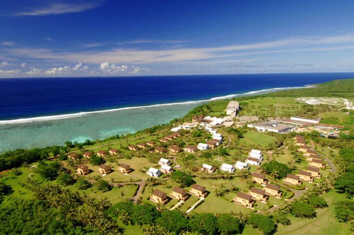 スタート&ゴールとなる「マリアナリゾート&スパ」はサイパン有数のリゾートホテル