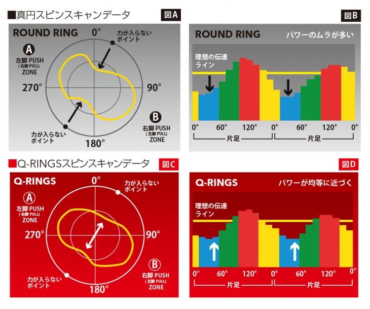 真円とQ-RINGSのスピンスキャンデータ