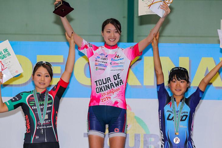ツール・ド・おきなわ2014女子国際レースでは2位表彰台を獲得した