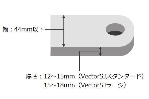 クランクアームの寸法によって「スタンダード」と「ラージ」の2タイプが用意される