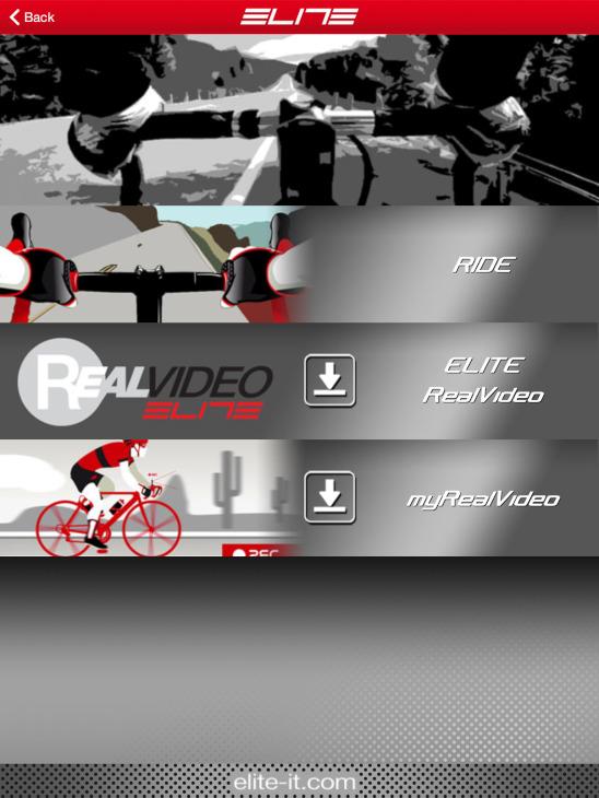 ダウンロードしたビデオレースはRIDEで実行する