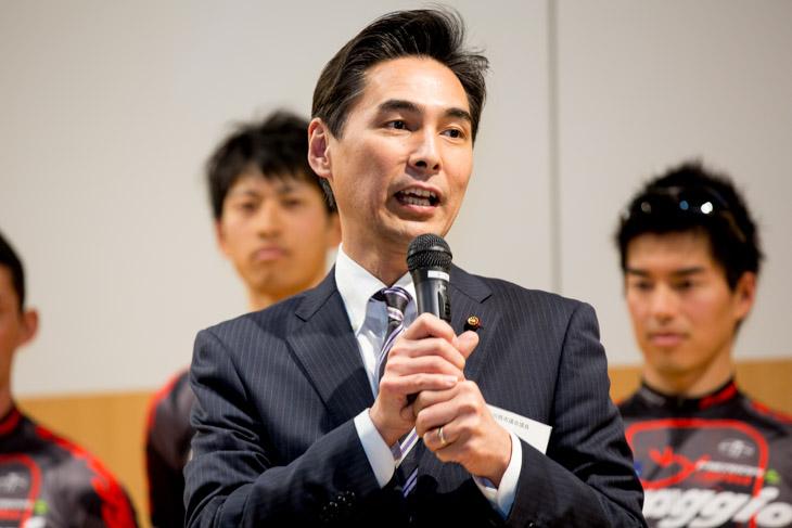 川西市議会平岡ゆずる議員(現副議長)が祝辞