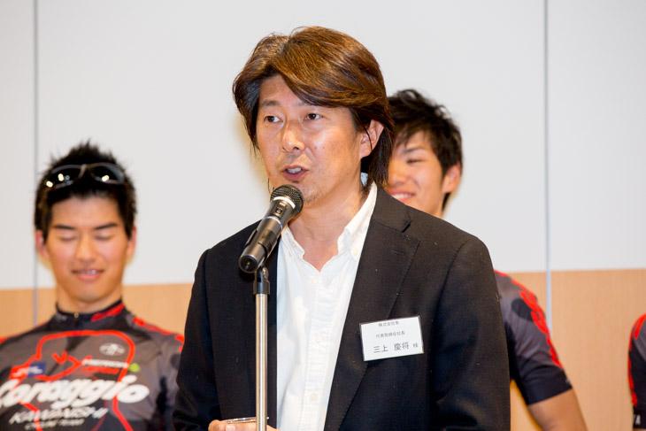 株式会社隼 三上慶将代表取締役社長が乾杯の音頭