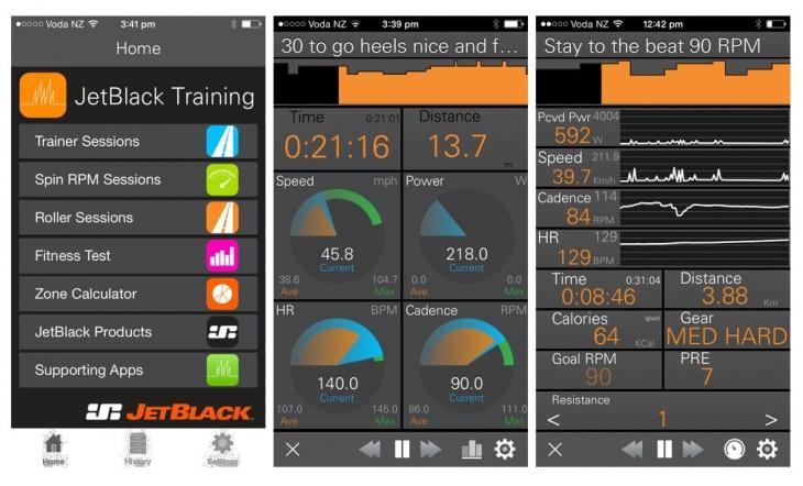 より充実したトレーニングが可能となるJetBlack Training App。今後発売される専用センサーと組み合わせることでスピードとパワーを表示させることができる