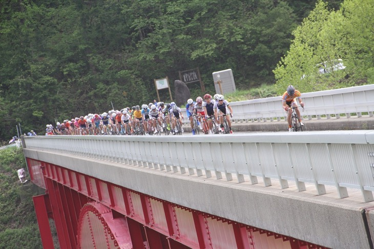 味噌川ダムを周るコースで開催された2days race in 木祖村