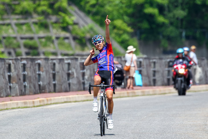 長野県国体予選ロード 少年フィニッシュ