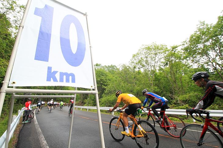 やっと10km地点をクリア。まだまだ先は長いですよ?
