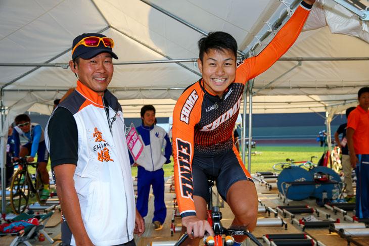 成年男子1kmタイム・トライアルとチームスプリントで優勝の松本貴治(愛媛県、朝日大)
