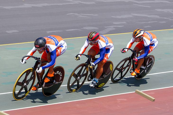 チーム・スプリント 2位 和歌山県(橋本、南、布居)1分16秒631(予選時)大会新