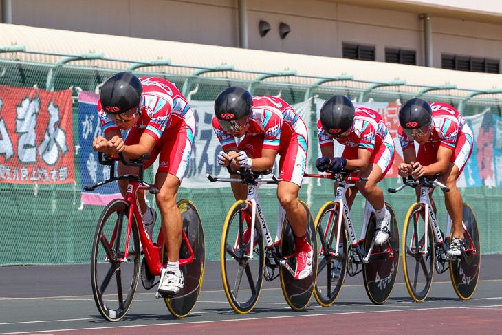 4kmチーム・パーシュート 2位 岐阜県(相馬、渡邊、浦田、橋本)4分20秒254