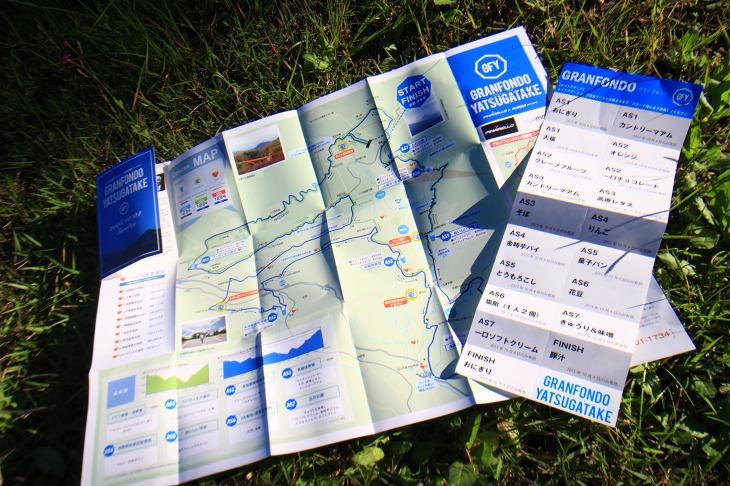 分かりやすいマップとエイドチケットが配られます