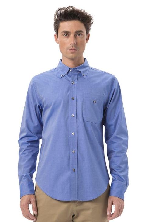 LIGNE8 COTTON TWILL MELBOURNE SHIRT(Blue)