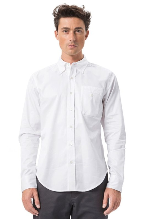 LIGNE8 COTTON TWILL MELBOURNE SHIRT(White)