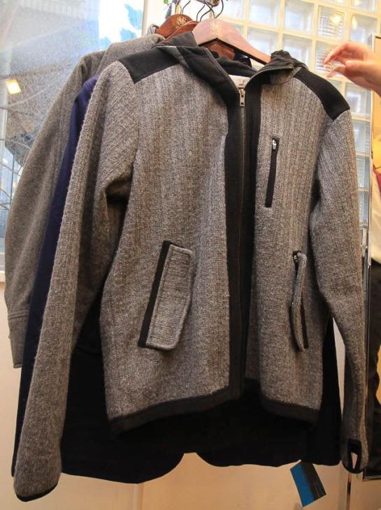 LIGNE8 Cable Knit Fleace Hamburg Zip Front Jacket