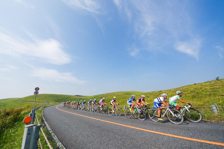 2011年山口国体で使用された秋吉台道路
