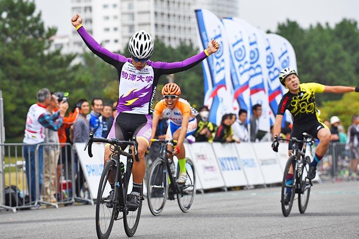 E3 1組目 優勝した森勇太(駒沢大学自転車部)