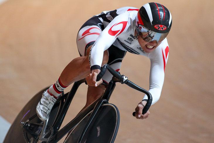 オムニアム男子 フライングラップ(250m) 1位 一丸尚伍(ブリヂストンアンカーサイクリングチーム)13秒129