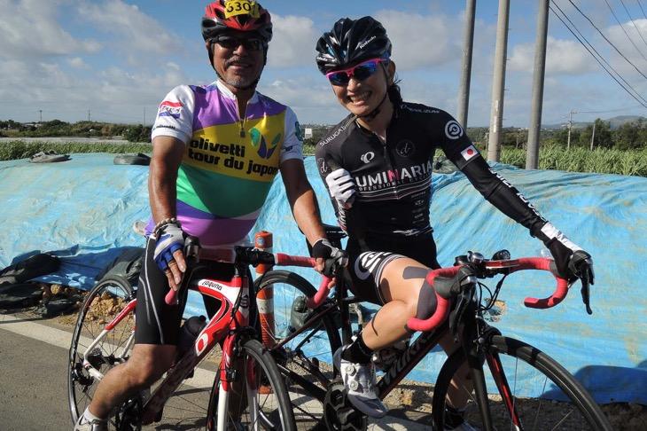 懐かしのオリベッティ・ツールド・ジャパンのチャンピオンジャージのサイクリストと