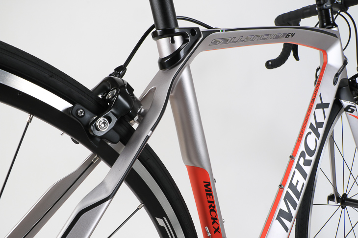 リアブレーキ取り付け部を薄くするなど、振動吸収性を高めるための設計が多く見てとれる