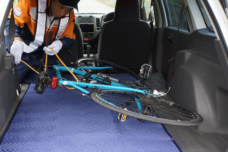 自転車のトラブルなどを救援してくれるロードサービス
