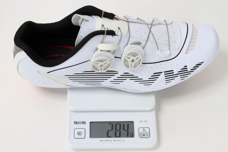 42サイズの実測重量は284g