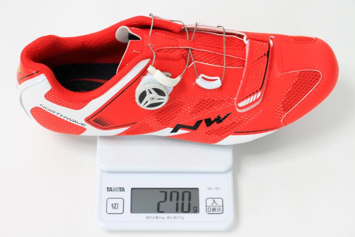 42サイズの実測重量は270g