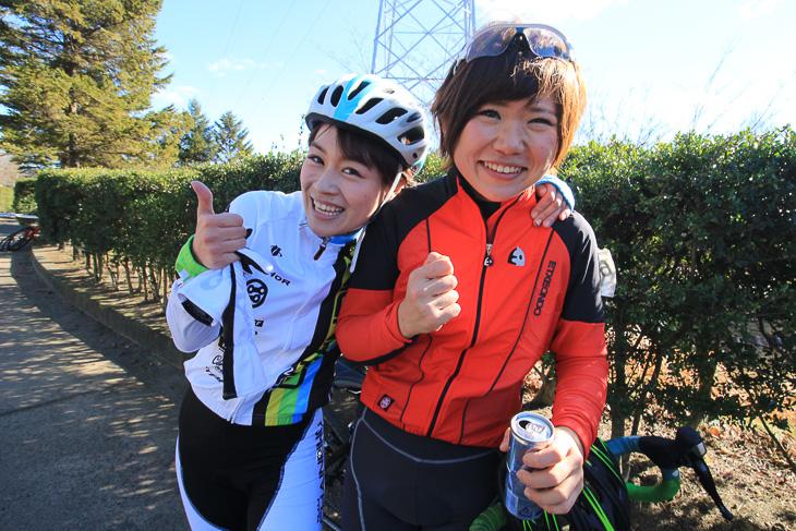 優勝した古川菜々さんに祝福のハグ! 今度は最後まで競り合うぞ!