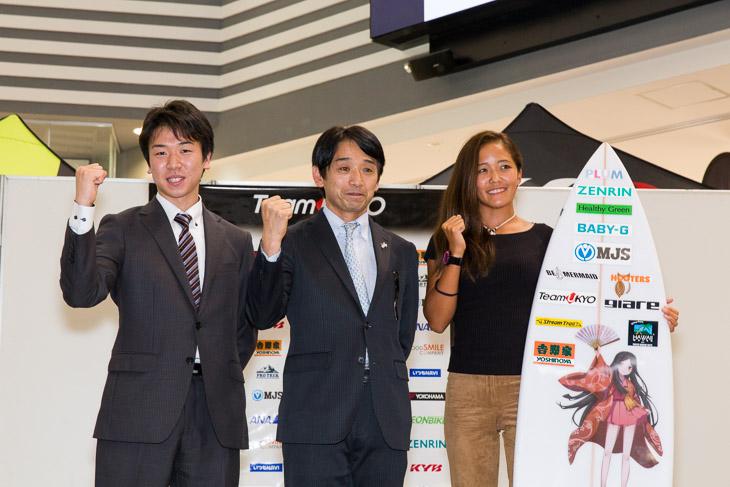 モータースポーツのFIA-F4を走る河野駿佑とサーフィンアジアランキング1位の北沢麗奈