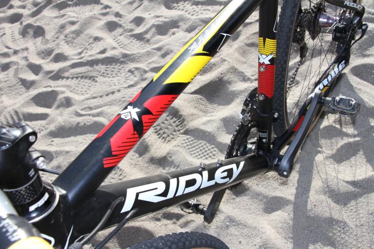 「せっかくシクロクロスを始めるなら、本場ベルギーのバイクでしょ!」とリドレーを選んだという