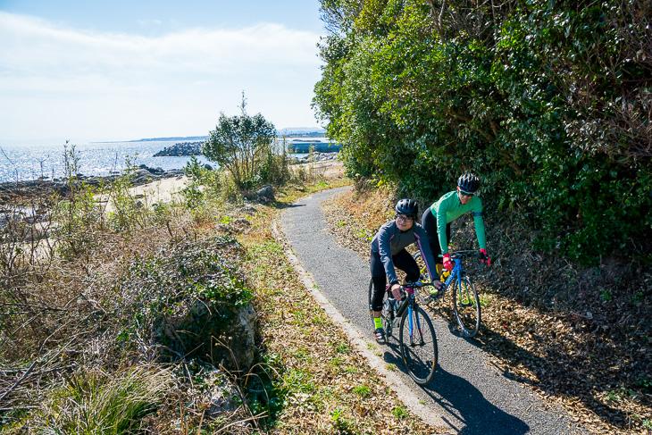 裏道感覚で楽しめる黒津崎サイクリングコース