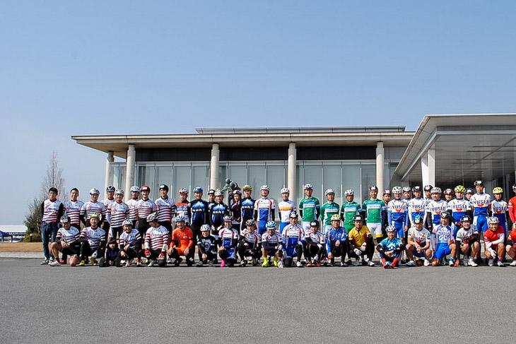 福岡県柳川市やまと学校でのレース 参加選手とスタッフ