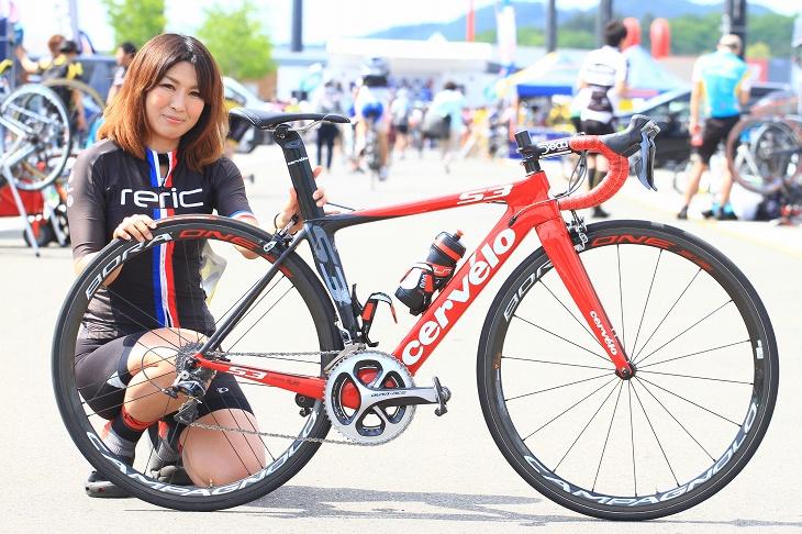 野崎桃世さん(team 自転車処 風輪) サーヴェロ S3