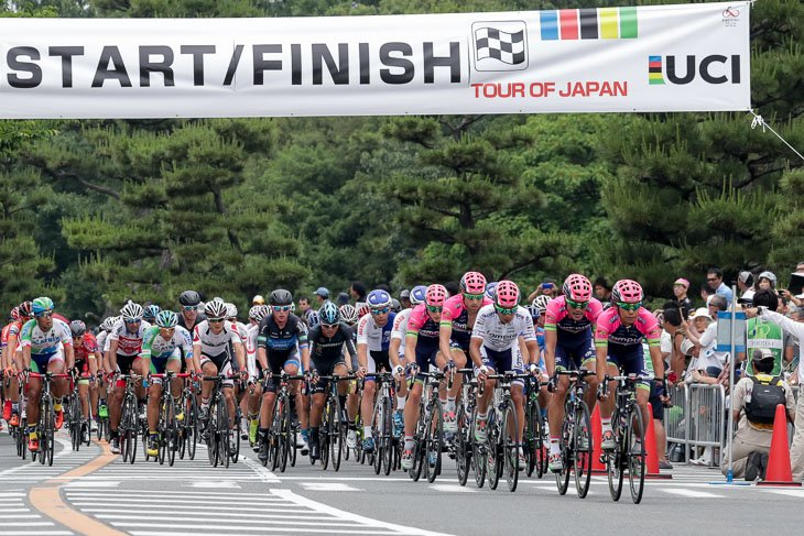 ツアー・オブ・ジャパン出場選手による堺国際クリテリウムは午前10時50分スタート