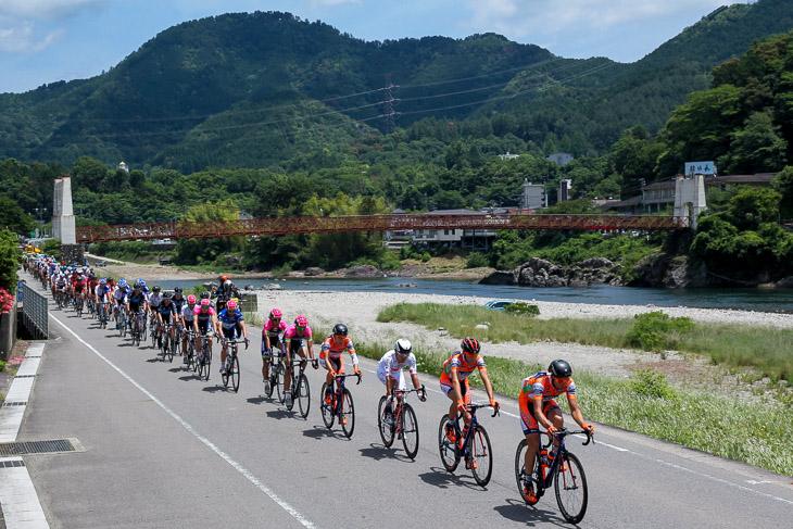 長良川沿いの周回コース