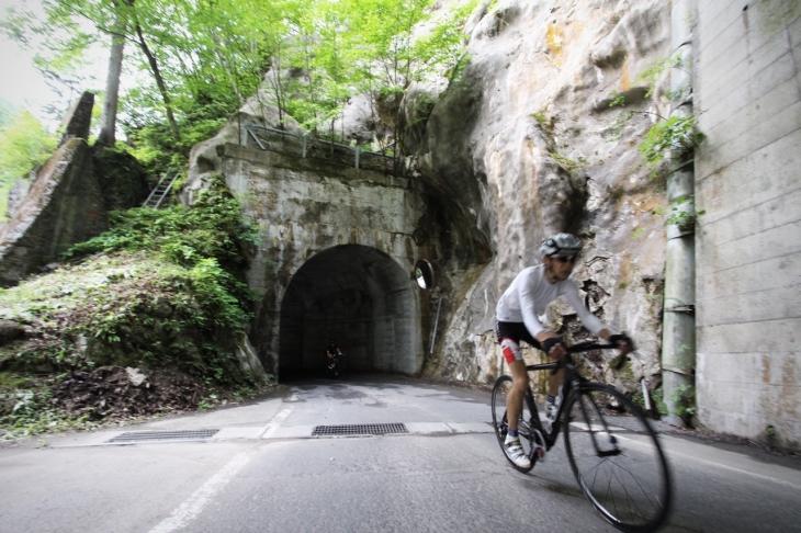 ルート上に一つだけあった小さな隧道