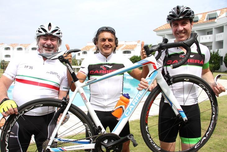 昨年の3名のゲストたち。左からセラ・サンマルコのルイジ・ジラルディJr氏、クラウディオ・キアプッチ氏、マルコ・カンパニョーニ氏