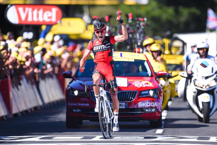 独走勝利を飾ったグレッグ・ファンアフェルマート(ベルギー、BMCレーシング): photo:Kei Tsuji