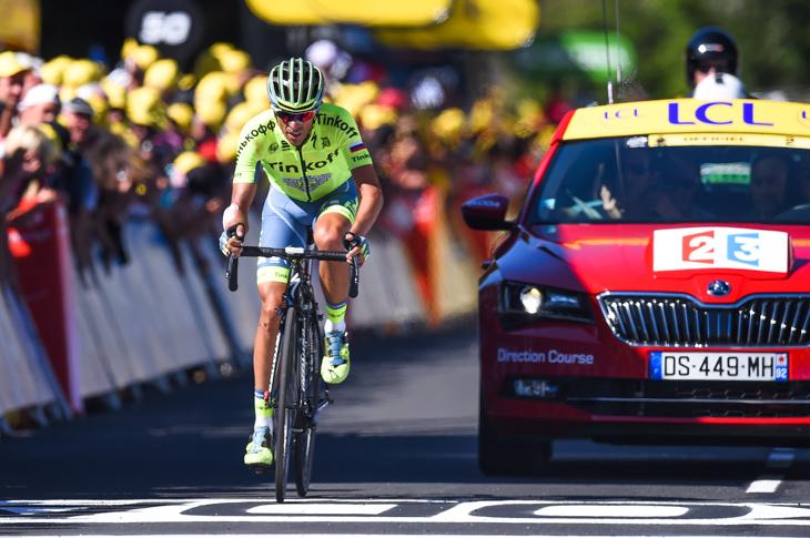 ライバルたちから33秒失ったアルベルト・コンタドール(スペイン、ティンコフ)