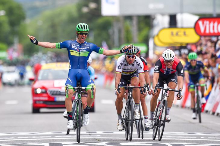 RC9とともにツール・ド・フランスで区間優勝を挙げたマイケル・マシューズ(オーストラリア、オリカ・バイクエクスチェンジ)が勝利: photo:Kei Tsuji