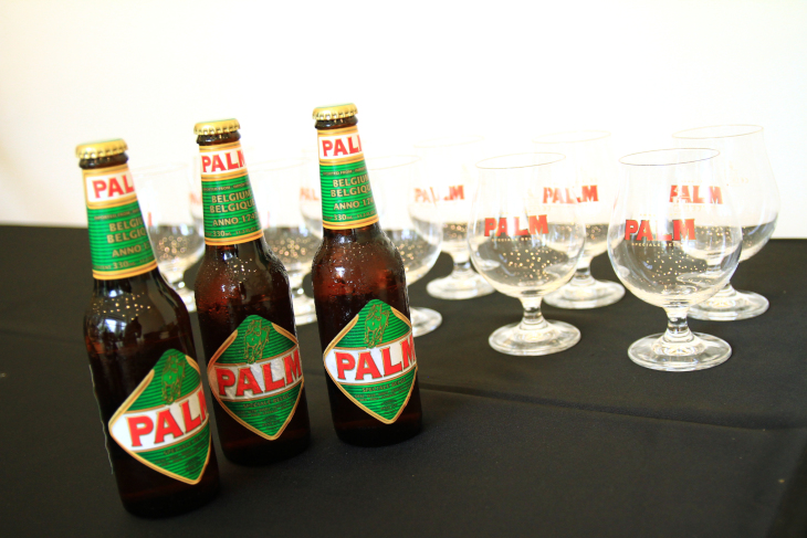 エディ・メルクス社に投資を行うPALM社のベルギービールが振る舞われた
