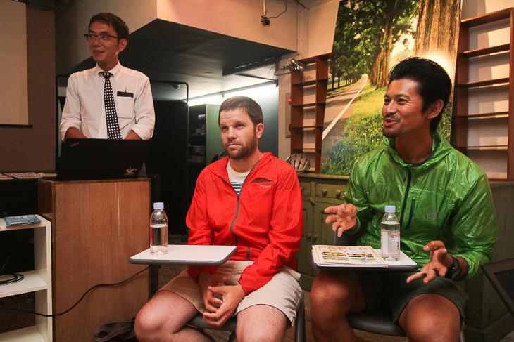 世界自転車旅のエキスパートである山下晃和さんとルーカス B.Bさん