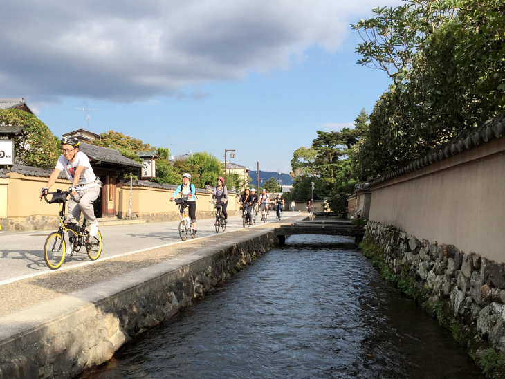 古都京都を巡るサイクリングを楽しめる ※写真は前回イベントの様子