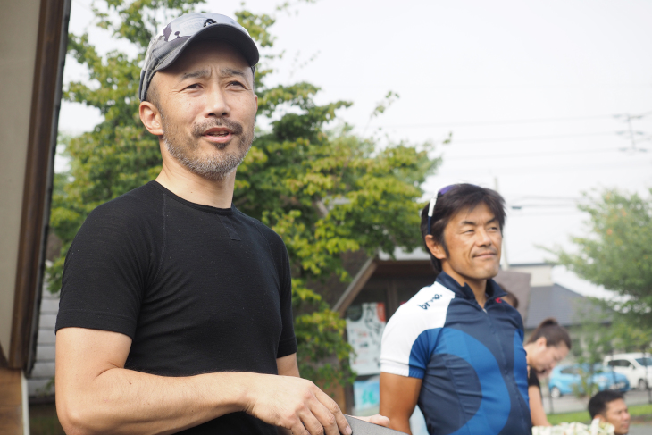 イベント発起人の1人であるプロサイクリングショップ「正屋」の岩崎正史代表