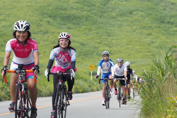 女性サイクリストの参加も多かった
