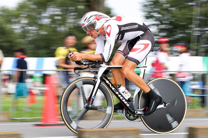 1位 ダミアン・モニエ(ブリヂストンアンカーサイクリングチーム) 19分43秒486