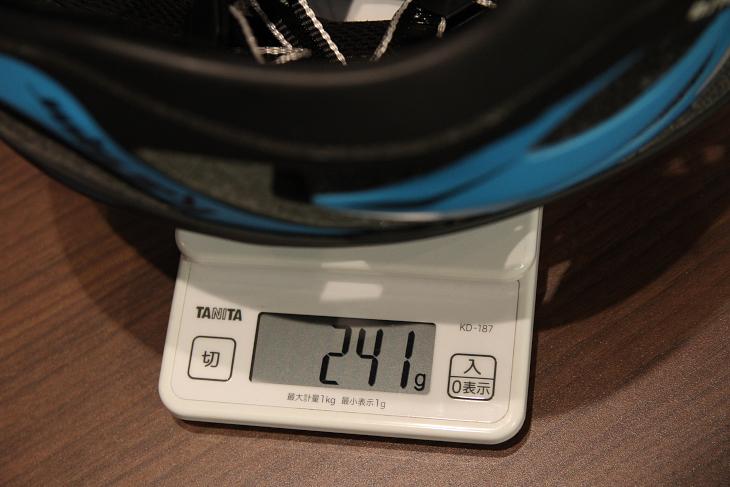 カバー未装着時のS/Mサイズ実測重量は241g
