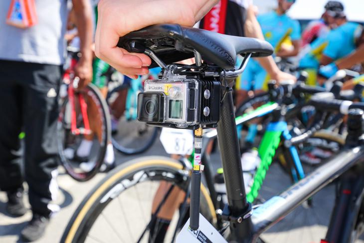 生中継用に取り付けられたGoProベースのオンボードカメラ